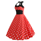 Robe Vintage<br> Pin Up Rouge Pois - Louise Vintage