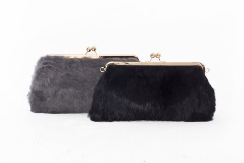 Luelle Faux Fur Clutch