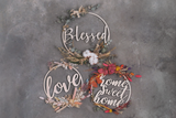 Dried Floral Wood Wreath (Bright)