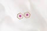 Maia Dried Floral Earring Studs (Purple)