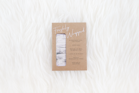 Carrara White Marble Nail Wrap