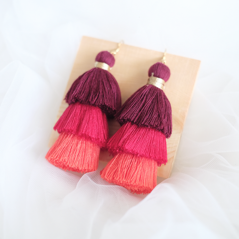 Ombre Tassel Earring (Sunset)