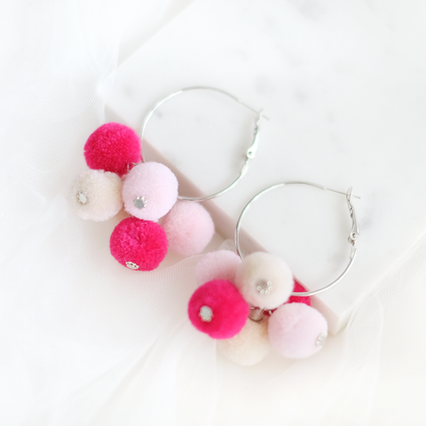 Felt Bubbles Ring Earring (Sweet)