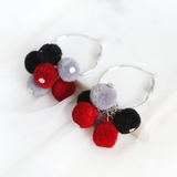 Felt Bubbles Ring Earring (Bold)