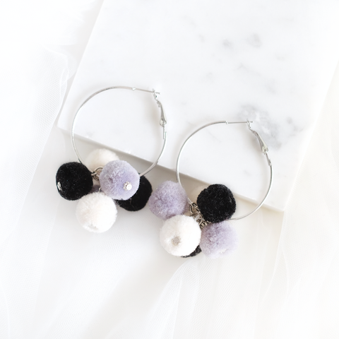 Felt Bubbles Ring Earring (Mono)