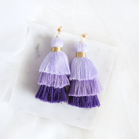 Ombre Tassel Earring (Purple)
