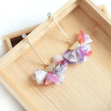 Chiffon Floral Earrings (Purple)