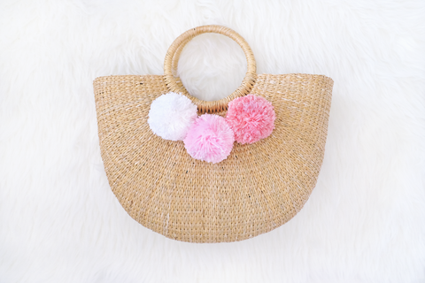 Allie Straw Bag (Cotton Candy) (Pre-order)