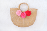 Allie Straw Bag (Peach Berry) (Pre-order)