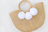 Allie Straw Bag (White) (Pre-order)