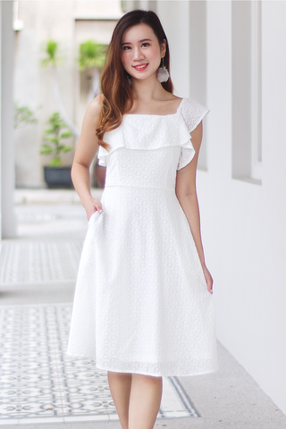 Facelle Eyelet Dress (White)