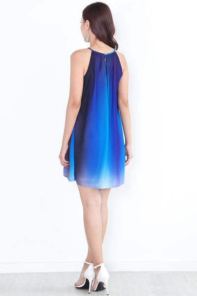 Melene Ombre Dress (Noir)