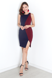 Macen Color-Contrast Dress