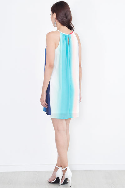 Melene Ombre Dress (Rainbow)