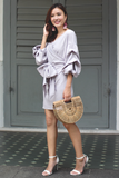 Deia Wrap Dress (Lavender Grey)