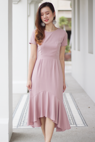 Dansel Midi Dress (Blush)