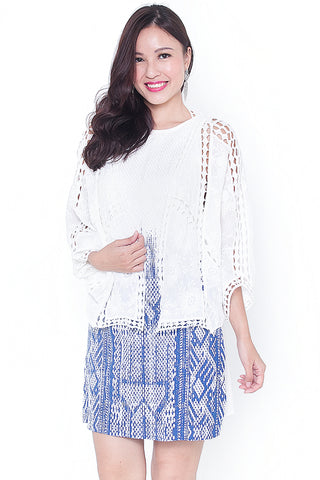 Cally Crochet Shrug (White)