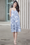 Cassine Abstract Dress (Sky)