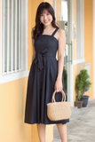 Riveria Midi Dress (Navy)