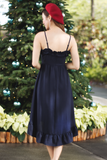 Prixie Frill Dress (Navy)