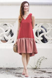 Camrie Drop-Waist Dress (Mandarin)