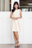 Brendette Jacquard Dress (Golden Beige)