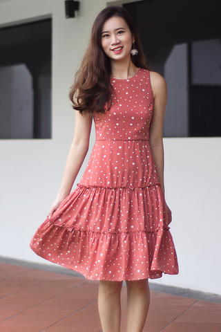Cassian Flare Dress (Salmon)