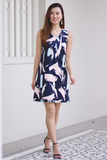 Clariss Abstract Dress (Navy)