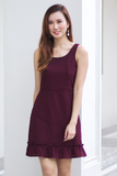 Kimmie Eyelet Dress (Burgundy)
