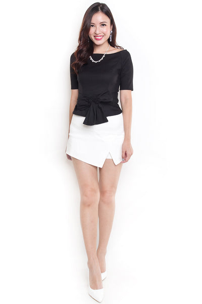 Fynix Box Sleeve Top (Black)