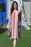Farlise Stripe Dress (Rainbow)
