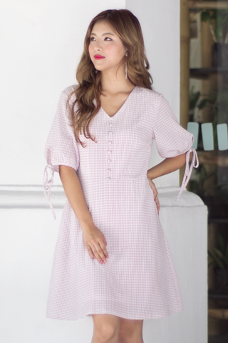 Riesle Gingham Dress (Pink)
