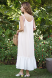 Calissa Colourblock Tassel Dress (Beige)