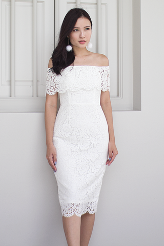 Farlle Lace Dress (White)