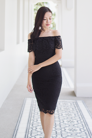 Farlle Lace Dress (Black)