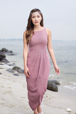 Ellise Maxi Dress (Dusty Rose)