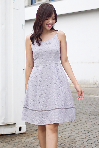 Dasmin Eyelet Dress (Grey)