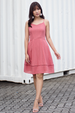 Dasmin Eyelet Dress (Coral)