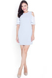 Sache Cold Shoulder Dress (Sky)