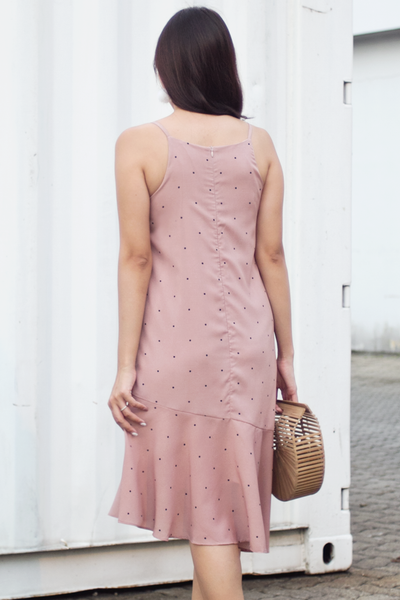 Jeyess Dotted Dress (Natural Blush)