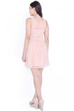 Karlie Tulle Sweetheart Dress (Blush Pink)