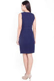 Kingsley Belted Dress (Navy)