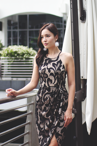 Ames Lace Dress (Black)