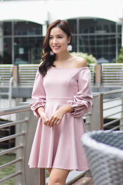 Jayelle Off-Shoulder Dress (Pink)