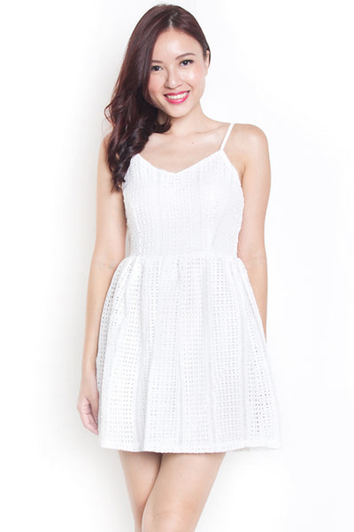 Kady Crochet Dress (White)