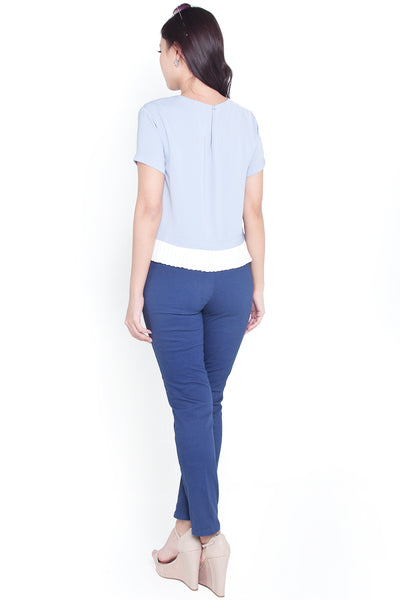 Quin Waist Tailor Pants (Ocean Blue)