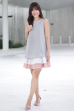 Fayen Colourblock Tier Dress (Pastel)