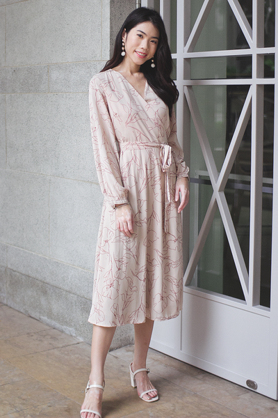 Maddine Wrap Midi Dress