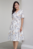Veris Floral Wrap Dress