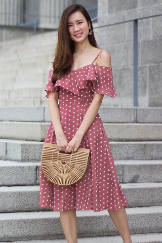 Madlene Midi Dress (Rose)